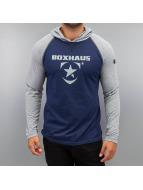 BOXHAUS Brand Tričká dlhý rukáv Incept modrá