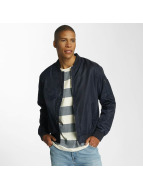 Brave Soul Nylon Short Bomber Jacket Navy