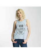 Brave Soul Printed Tank Top Denim Blue