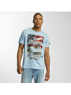 Brave Soul T-shirt Large Crew Neck blu