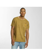Brave Soul T-Shirt Crew Neck yellow