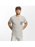 Brave Soul T-Shirty All Over Star Print bezowy