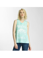 Brave Soul Tank Tops Printed Burn Out zelená