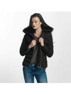 Brave Soul Vinterjackor Brave Soul Fur Collar Winter Jacket svart