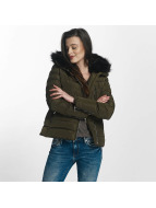 Brave Soul Winterjacke Brave Soul Fur Collar Winter Jacket khaki