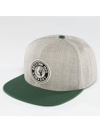 Brixton Rival Snapback Cap Light Heather Grey/Chive