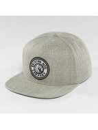 Brixton Rival Snapback Cap Light Heather Grey/Off White