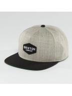 Brixton Snapback Cap Obtuse grigio