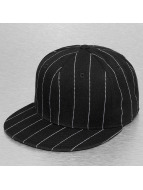 Cap Crony Hip hop -lippikset Pin Striped musta