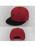 Cap Crony Snapback Two Tone Flat Bill rouge