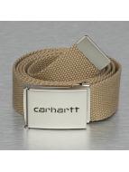 Carhartt WIP Ремень Clip Belt бежевый