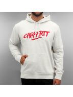 Carhartt WIP Bluzy z kapturem Hooded Painted Script szary