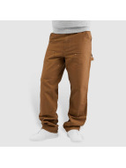 Carhartt WIP Dżinsy straight fit Turner Double Knee brazowy