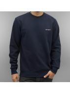 Carhartt WIP Maglia Script Embroidery blu