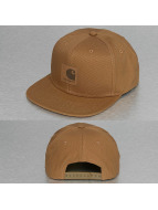 Carhartt WIP Snapback Cap Logo Canvas brown