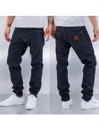 Carhartt WIP Straight Fit Jeans Edgewood Klondike II blå