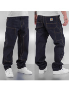 Carhartt WIP Straight Fit Jeans Hanford Double Knee blau