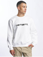 Carhartt WIP Swetry frequenzy bialy