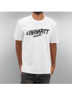 Carhartt WIP T-paidat S/S Painted Script valkoinen
