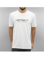 Carhartt WIP T-Shirts S/S Wip Script beyaz