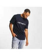 Carhartt WIP T-Shirts Script mavi
