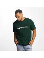 Carhartt WIP T-Shirts Script yeşil