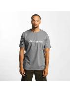 Carhartt WIP T-skjorter Script grå