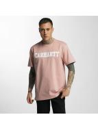 Carhartt WIP T-skjorter College rosa