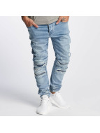 Cayler & Sons Slim Fit Jeans ALLDD Paneled Inverted Biker blauw