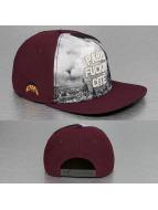 Cayler & Sons Snapback Cap White Label Paris Skyline rosso
