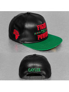 Cayler & Sons Snapback Cap White Label Fight Back schwarz