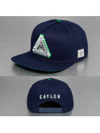 Cayler & Sons Snapback Caps White Label Triangle Of Trust blå