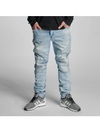 Cayler & Sons Straight Fit Jeans Pad blå