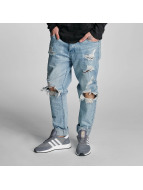 Cayler & Sons Straight fit jeans destroyed blauw