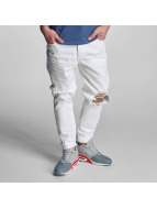 Cayler & Sons Straight Fit Jeans destroyed hvit