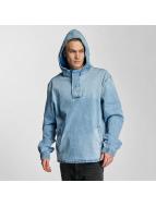 Cayler & Sons Sweat à capuche zippé Half Zip bleu
