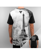 Cayler & Sons T-paidat White Label Paris Skyline Long musta