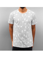Cazzy Clang Camiseta Checked II blanco