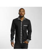 Cazzy Clang Hemd Stripes schwarz