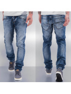 Cazzy Clang Jeans Straight Fit Washed bleu