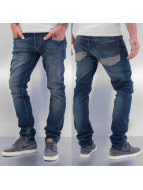 Cazzy Clang Jeans Straight Fit Suture bleu