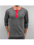 Cazzy Clang Longsleeve Button Tape grey