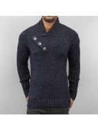 Cazzy Clang Pullover Three Buttons blau