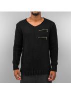 Cazzy Clang Pullover Zip schwarz