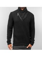 Cazzy Clang Pullover Zip Side schwarz