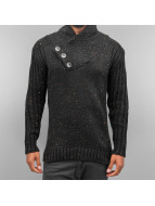 Cazzy Clang Pullover Three Buttons schwarz