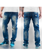 Cazzy Clang Straight Fit Jeans White Touch blau