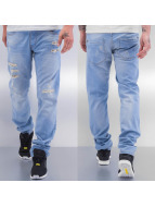 Cazzy Clang Straight Fit Jeans Destroyed II blau
