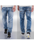 Cazzy Clang Straight Fit Jeans Drop blau