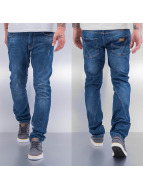 Cazzy Clang Straight fit jeans Emblem blauw